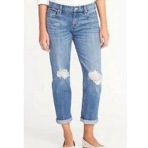 Old Navy women's  distressed Boyfriend jeans